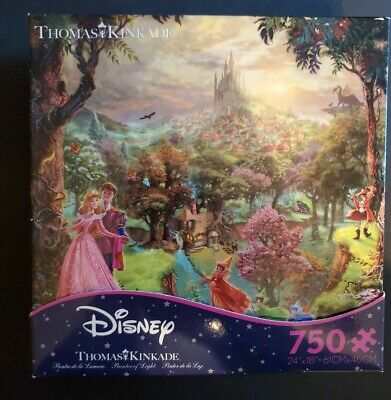 2014 Thomas Kinkade Disney Sleeping Beauty Jigsaw Puzzle -750 Piece
