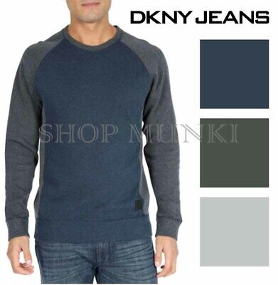 - DKNY Jeans Men's Crew Neck Raglan Pullover Sweater Shirt