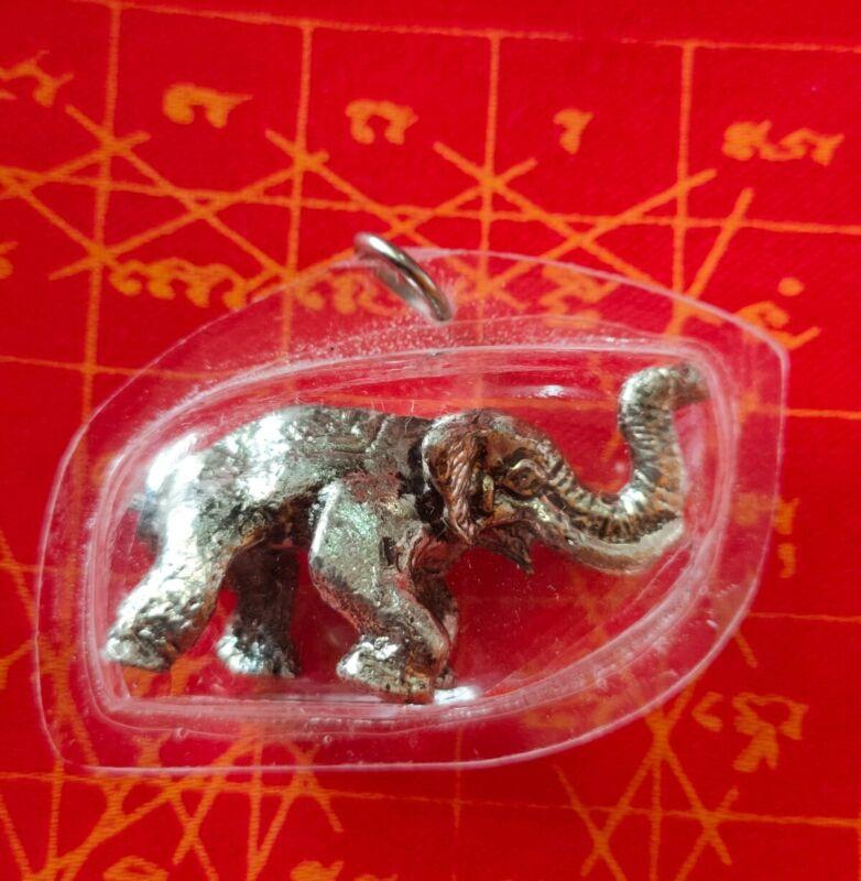 Pendant Elephant LP Holy Talisman Yant Thai Amulet success mercy fortune fetish