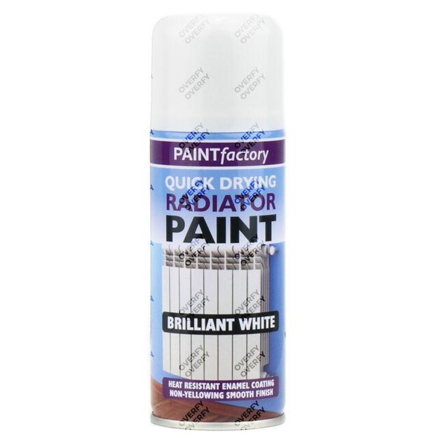 7 x Radiator Enamel White Gloss Paint Spray Aerosol 400ml DIY Metal Wood Etc.