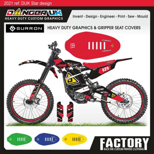 Sur-Ron Heavy Duty Graphics Decals Bike Seat Cover Gripper material