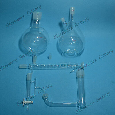Glass Essential Oil Steam Distillation Apparatusallihn Condenser