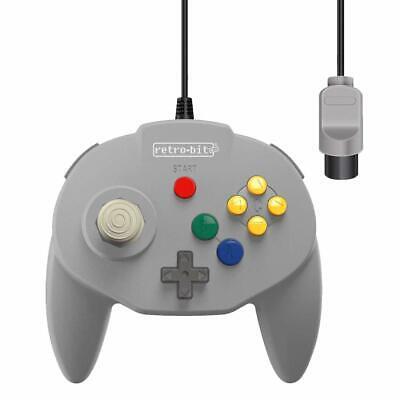 Retro-Bit Tribute 64 Wired Controller for Nintendo N64 - Original Port - Gray
