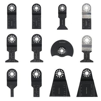 12pcs Metalwood Universal Oscillating Multitool Quick Release Saw Blade Set Us
