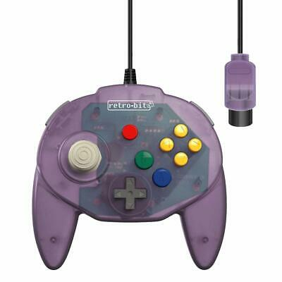 Retro-Bit Tribute 64 Wired Controller for Nintendo N64 - Atomic Purple