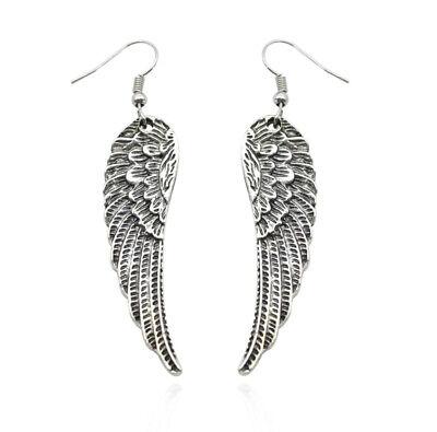 Silver Feather Angel Wing - Angel Wing Earrings