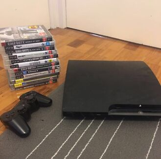 PS3 Slim with 12 Games & Controller