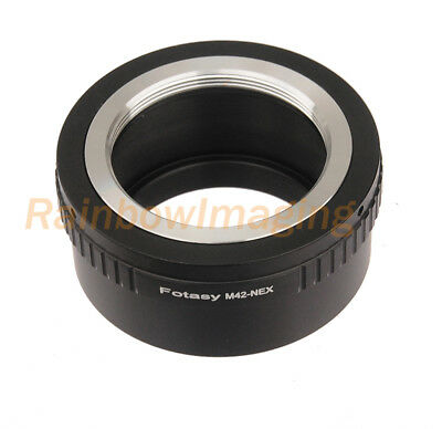 Copper Adjustable 42mm M42 lens to Sony  NEX7 a6300 a6000 a5000 a3000 adapter