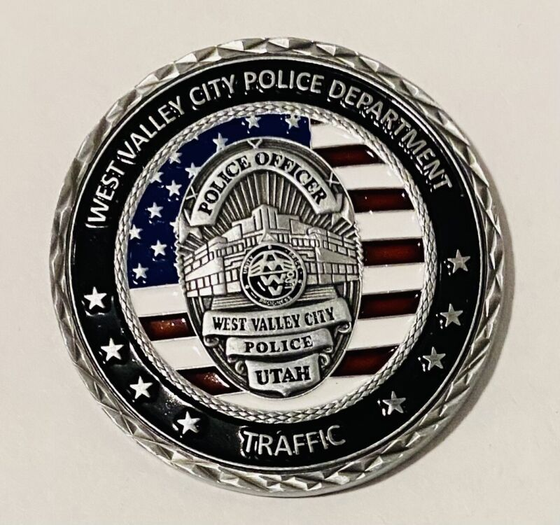 Sought After-Unique-West Valley City Utah Police-Police Challenge Coin