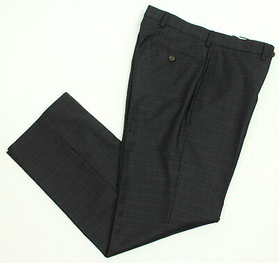New Polo Ralph Lauren Black Label Flat Front 100% Wool Dress Suit Pants 33 x 30