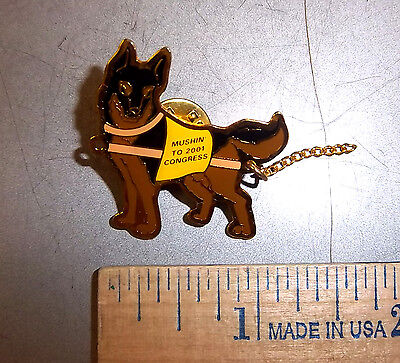 Alaska Little League baseball Lapel Pin Mushin to 2001 congress - sled dog
