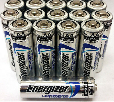18 Energizer Ultimate Aa Lithium 1.5v Batteries Exp 2036