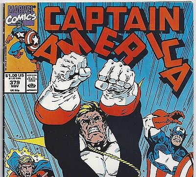 Captain America #379 with Quasar from Nov 1990 in VG- con. Avengers