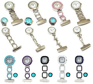 The-Olivia-Collection-Nurses-Fob-Watch-BACK-LIGHT-silver-pink-Ladies-Light-Gift