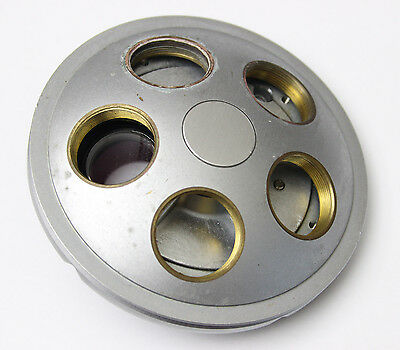 Nikon Diaphot Tmd Microscope Quintuple 5 Nosepiece Turret Nose Piece Rms