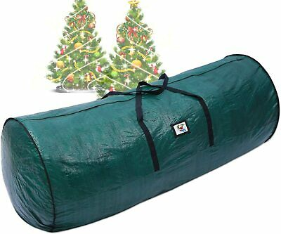 Heavy Duty Large Christmas Tree Storage Bag For Clean Up Holiday Green Up to 9ft