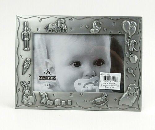 "Malden Sensational Design Baby Picture Frame 4"" x 6"" Pewter Finish"
