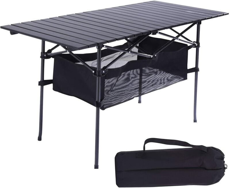 Foldable Picnic Beach Camping Table Fold Up for Fishing BBQ Party Outdoor&Indoor