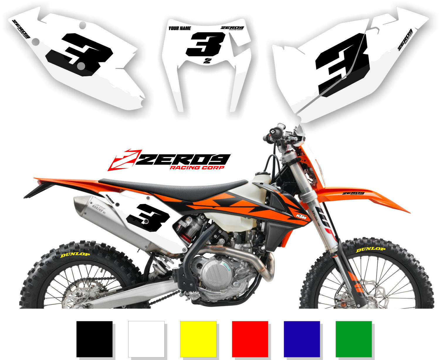 Ktm Motocross Mx Backgrounds Number Plates Sx Sx F Exc Exc F 50 525 Ebay