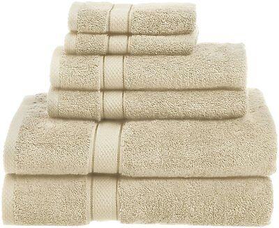 NEW 6 Piece Egyptian Cotton Towel Set Soft Luxurious Bath Hand Towels Oversized