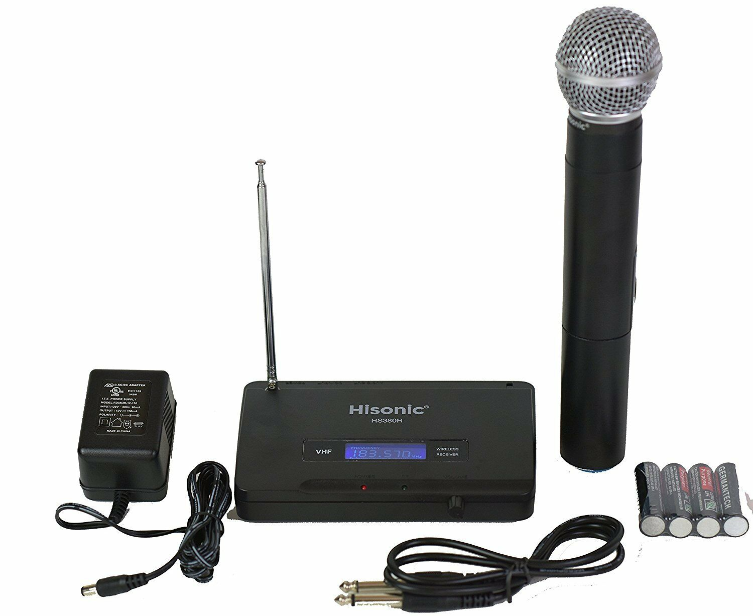 Hisonic HS380H VHF Wireless Handheld Microphone System Porta