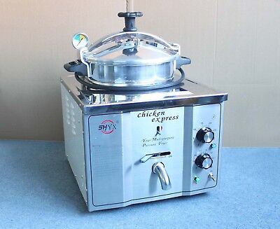 16l Stainless Steel Commercial Electric Pressure Fryer Cooker 0-200c 220v