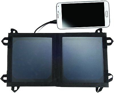 Olympia SP56 Portable Solar Panel Battery Charger with USB and MicroUSB, 1000mAh