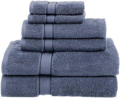 725 Gram100 % Egyptian Cotton 6 Piece Wedgewood Bath Hand Washcloths Towel Set