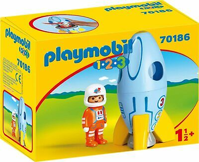 Playmobil 70186 1.2.3 Space Rocket with Astronaut 18m+