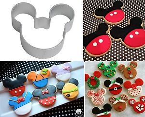 Mickey Minnie Mouse Head Logo Alloy Cookie Cutter Biscuit Cupcake cake topper
