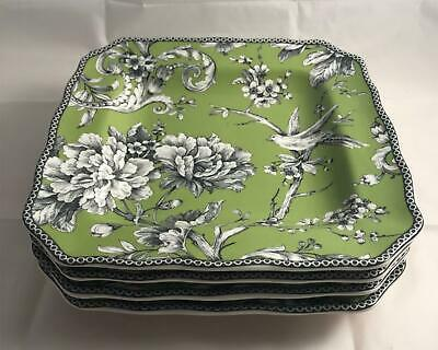 Set of 4 222 Fifth Adelaide Green & White 8.5