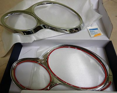MERCEDES W203 SEDAN C230 C240 C320 CHROME HEAD LAMP RIM RINGS SET 2002-2006-2005