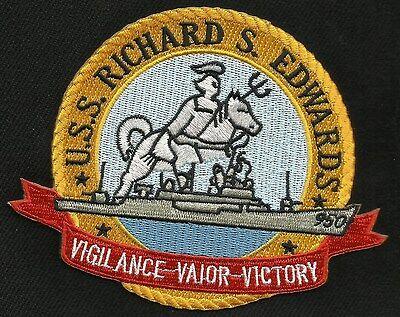 USS RICHARD S. EDWARDS DD-950 FORREST SHERMAN CLASS DESTROYER MILITARY PATCH (B)