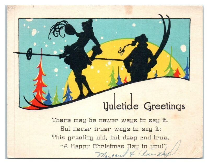 Yuletide Greetings, Skiers Christmas Card EPH2