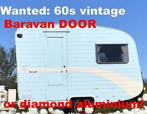 WANTED 60s Baravan Caravan DOOR! Diamond aluminium Vintage HELP! Warnbro Rockingham Area Preview