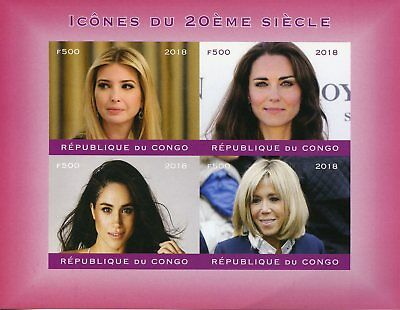 Congo 2018 MNH Ivanka Trump Kate Middleton Meghan Markle 4v Impf M/S I Stamps