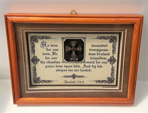 Details about New Wood Bible Verse Plaque