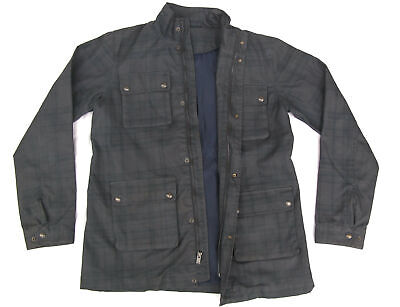 Vince Womens Waxed Field Jacket Snap Button Pockets Mandarin Collar Sz XL Gray, used for sale  Shipping to Ireland