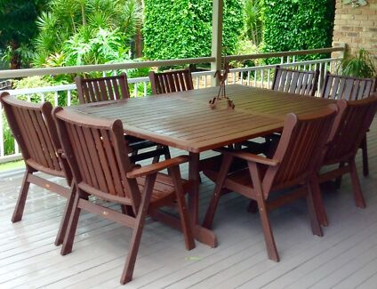 Kwila 8 Seater Outdoor Setting