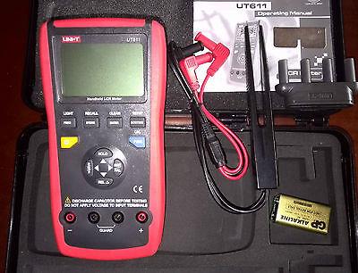 Handheld Lcr Meter 10khz Cap. Ohm Induct. L C R Dcr Q D Theta Esr Tester Ut611