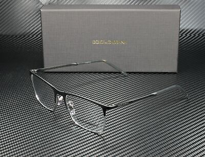 DOLCE & GABBANA DG1309 1277 Matte Black Gunmetal Demo Lens 53mm Men's (Dolce Gabbana Glasses For Men)