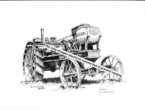 John Deere Waterloo Boy 1918 Farm Tractor ~ Pen & Ink Print