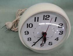 Vintage General Electric Alarm Clock Model 7375 Retro Mid Century Modern Spheric