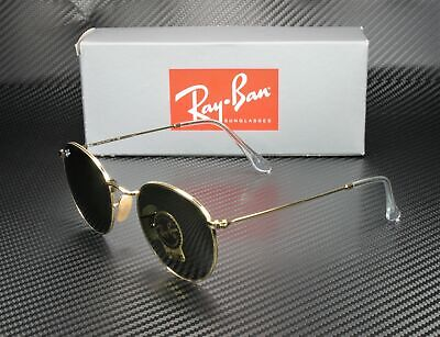 RAY BAN RB3447 001 Round Metal Arista Crystal Green 53 mm Men's (Metal Rounds)