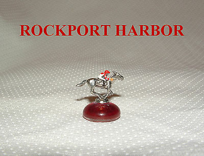 ROCKPORT HARBOR MINIATURE HORSE RACING FIGURINE HAND PAINTED FIGURE ()