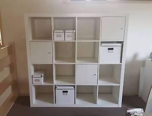 White 4x4 cube IKEA shelving unit Beaumaris Bayside Area Preview