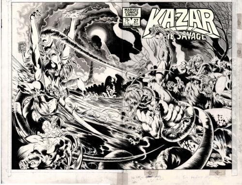 Ka-Zar the Savage #27 Double Spread Cover Art by Armando Gil Shanna
