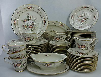 NORITAKE china ASIAN SONG 7151 pattern 77-piece SET SERVICE for TWELVE (12)+