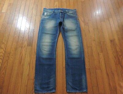 "G-Star Raw~Attacc Low Straight~Medium Wash~Men's Size 34 X 32"" NWOT"