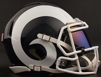 e2f98dde9 LOS ANGELES RAMS NFL Football Helmet with SHOC 2.0 Visor   Eye Shield